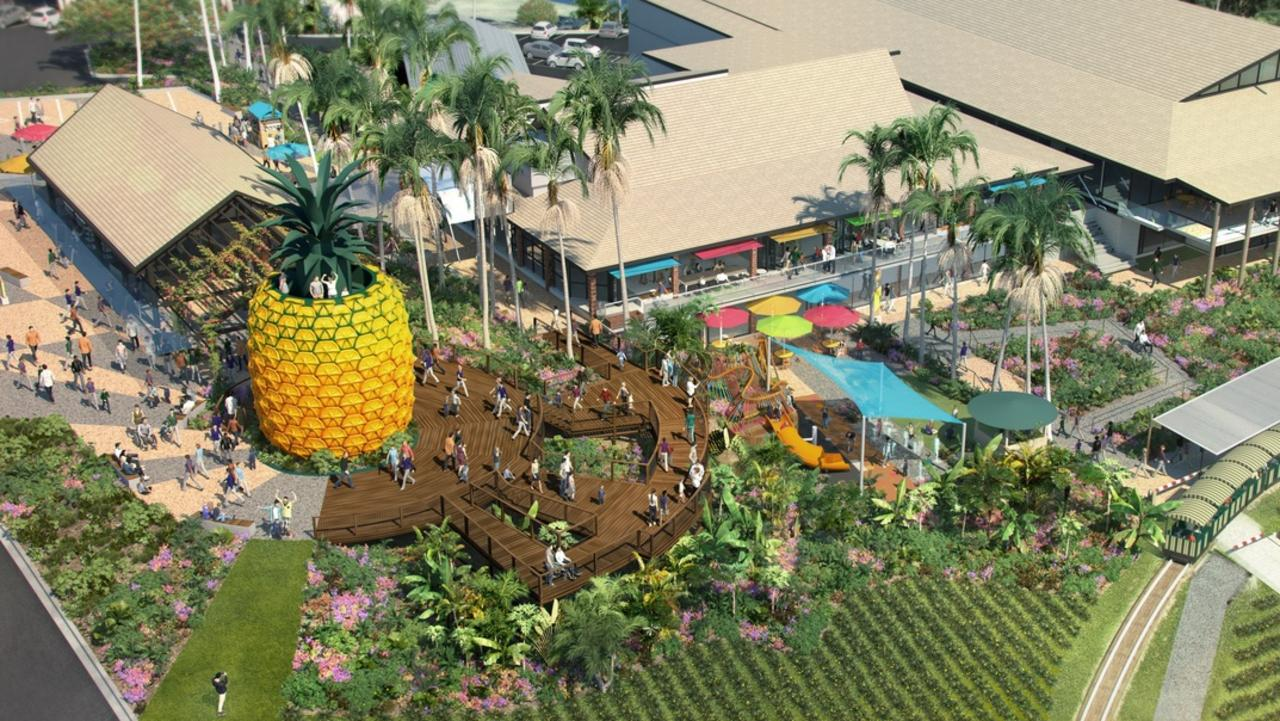 The Big Pineapple in Woombye will undergo a $115 million expansion.
