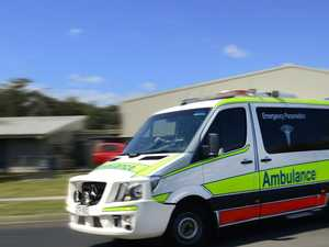 Two injured in motorbike crash at busy intersection
