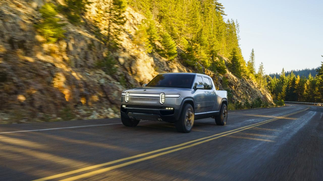 Rivian could beat Tesla to market with its R1T electric ute concept. Picture: Supplied.