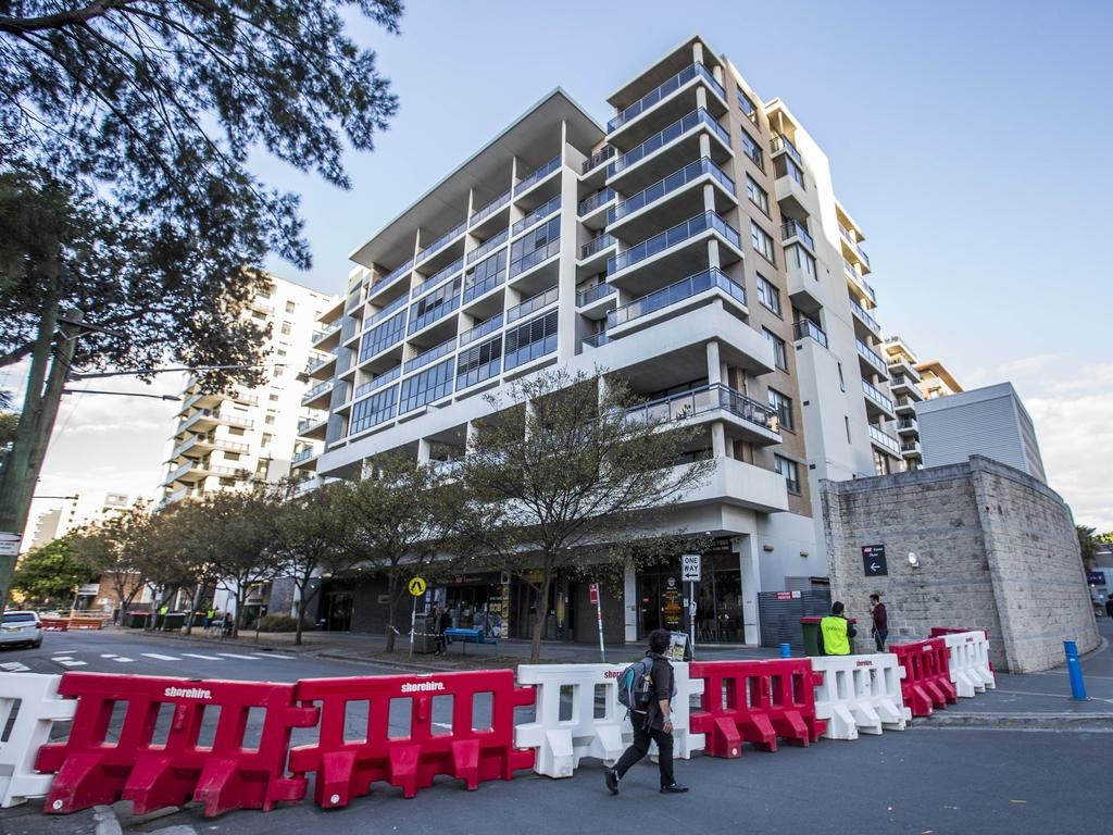 Mascot Towers was evacuated mid-year after structural concerns. Picture: Damian Shaw