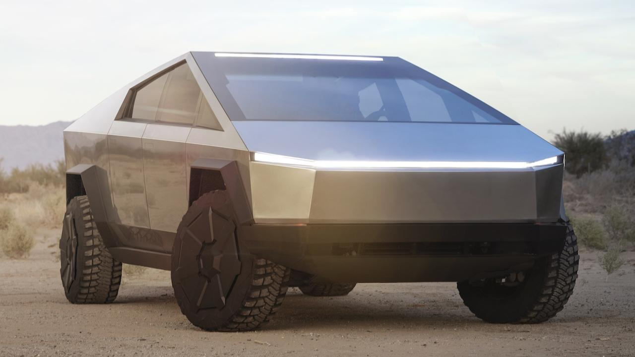 Tesla's Cybertruck resembles a lunar module. Picture: Supplied.