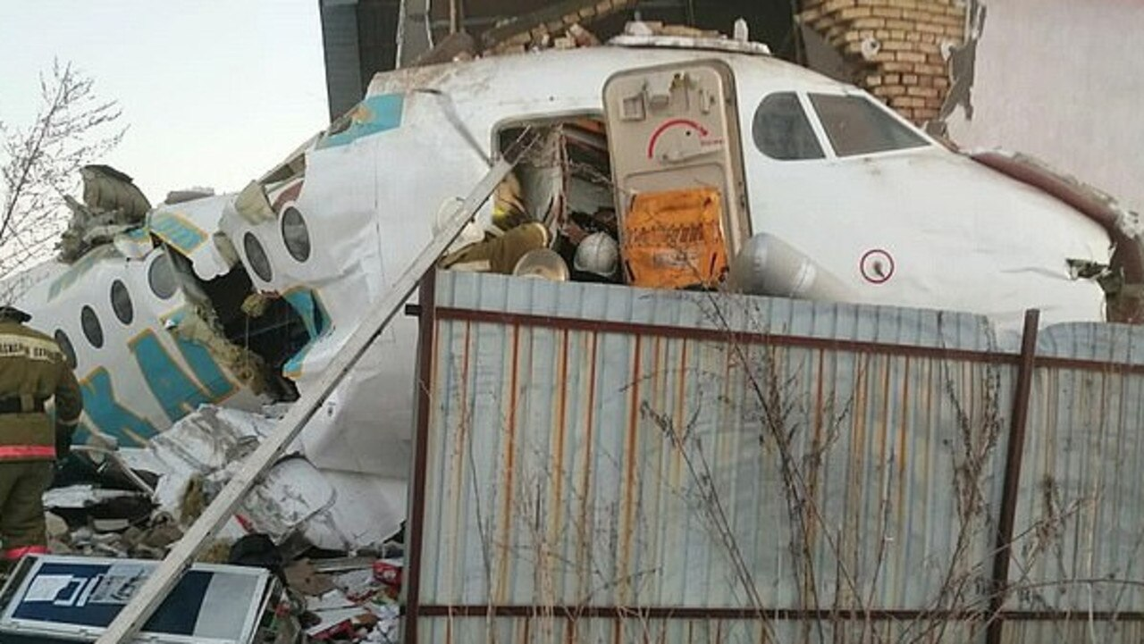 A Bek Air plane with 95 passengers and five crew members on board crashed near the city of Almaty in Kazakhstan.