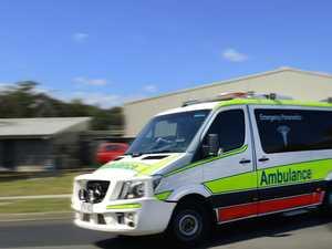 Man taken to hospital after two-car crash