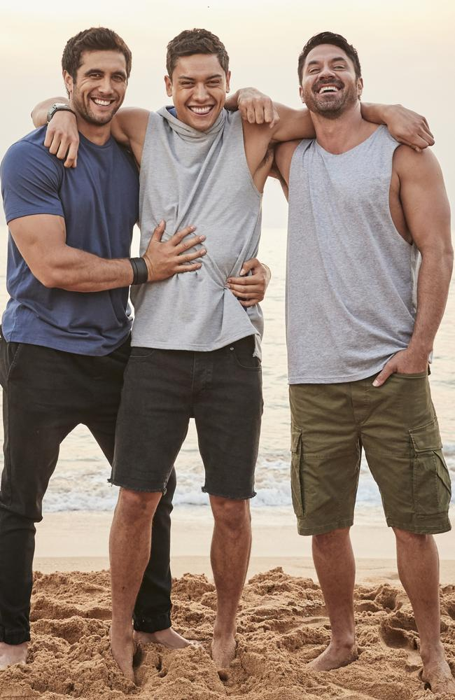 Ethan Browne, Kawakawa Fox-Reo and Rob Kipa-Williams will star on Seven's Home & Away in 2020. Picture: Supplied