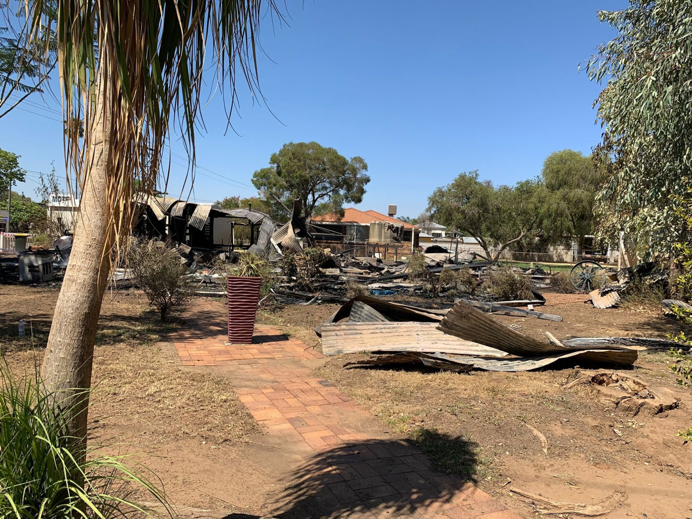 Fire destroyed a St George home overnight.