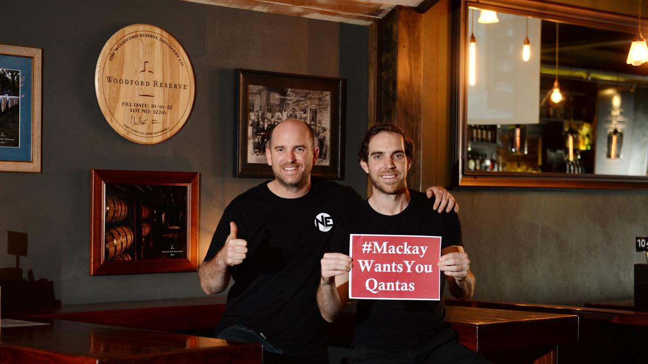Damien and Adrian Connors, who co-own Burp, The Dispensary and NE Food support the Qantas training academy coming to Mackay