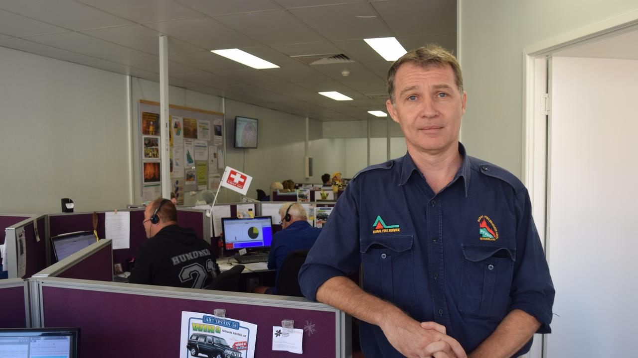 Rural Fire Brigades Association Queensland general manager Justin Choveaux.