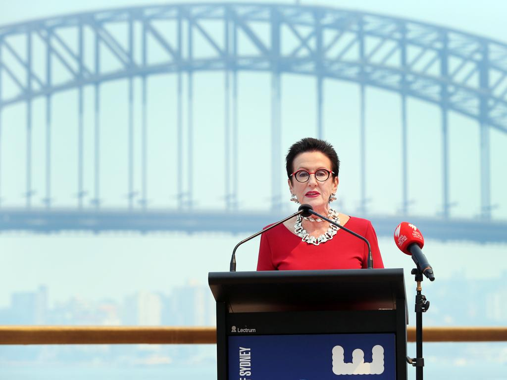Sydney Lord Mayor Clover Moore says she is 'deeply saddened' by the bushfire crisis, but the fireworks will still go ahead. Picture: Richard Dobson
