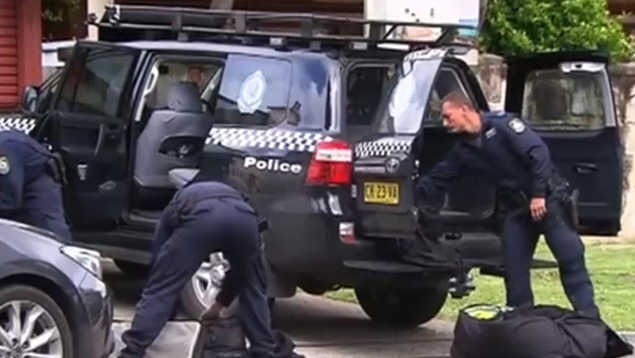 The manhunt for Husseim Dennaoui in Hurstville in 2017 before he was arrested. Picture: 7 News