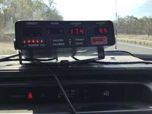 Motorist pinged driving 174km/h near Howard