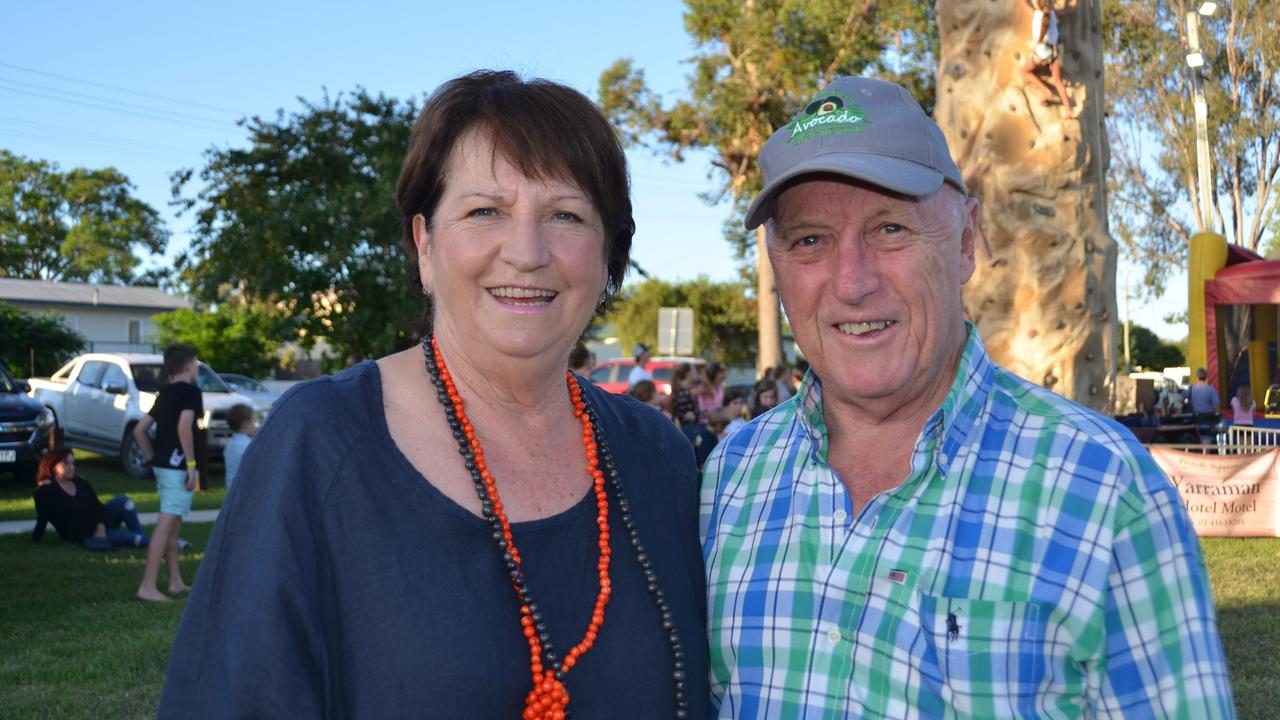 David and Judy Robinson enjoying Yarraman's New Year's Day festival in 2019.