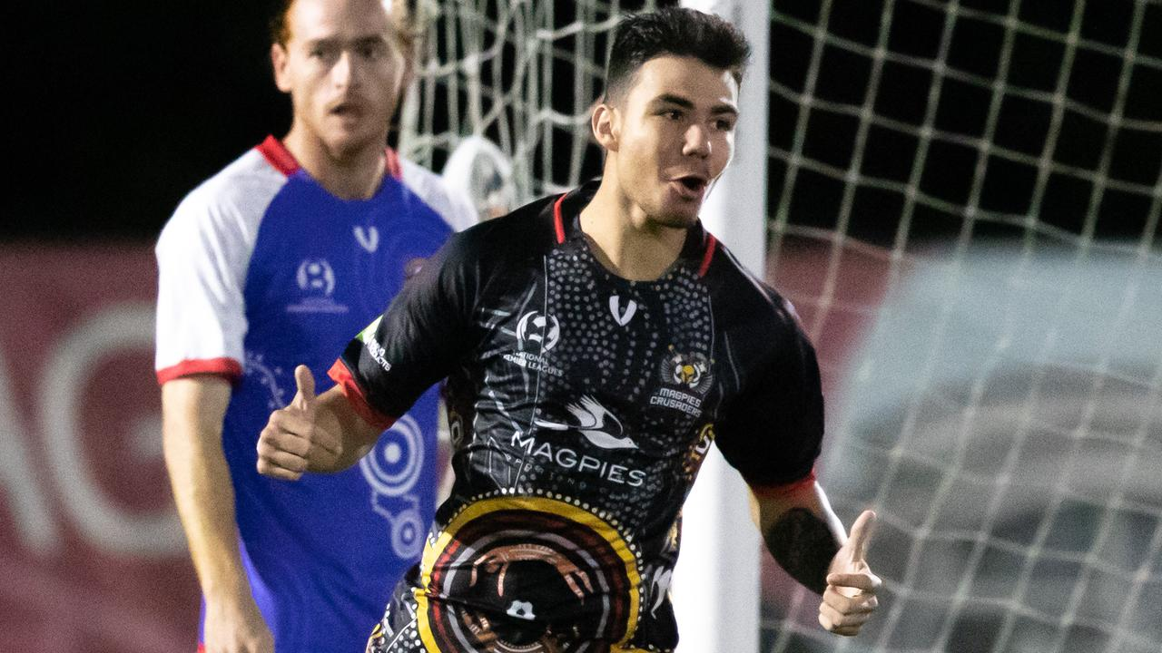 Magpies Crusaders player Kyren Walters filled the role of Michael Lyall's striking prodigy after a stunning goal in the FFA Cup's Round of 32.