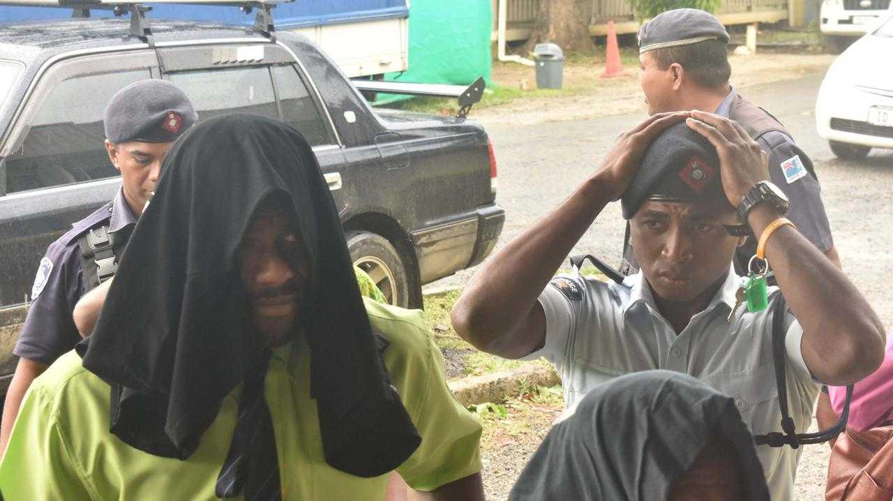 Eels superstar Maika Sivo arrives at court in Fiji. Picture: Fiji Sun/Waisea Nasokia