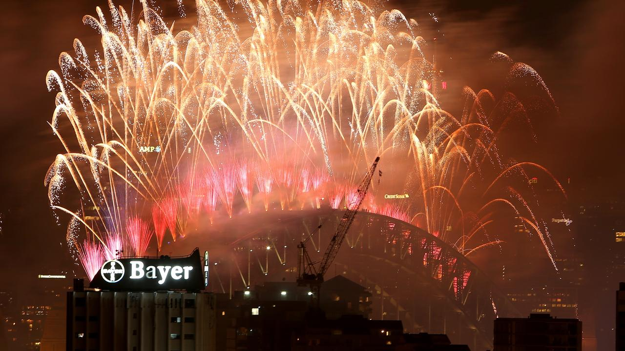 Sydney New Years Eve fireworks in 2016. Picture: Tim Hunter.