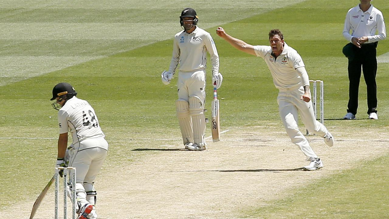 Australian paceman James Pattinson was a handful on the MCG pitch. Picture: Getty Images