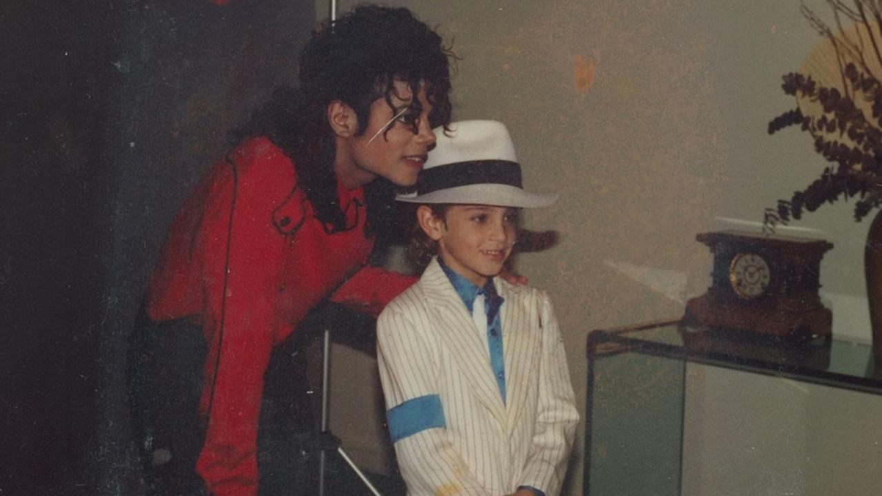 Michael Jackson with a young Wade Robson.