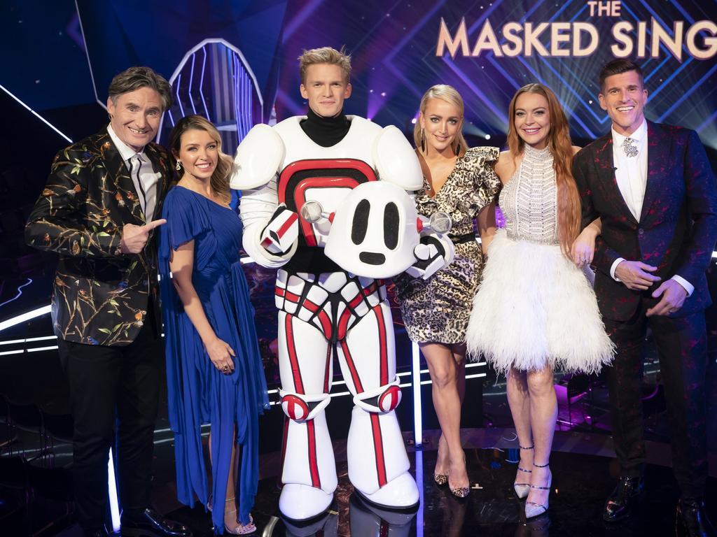 Cody Simpson wins The Masked Singer Australia. Picture: Ten