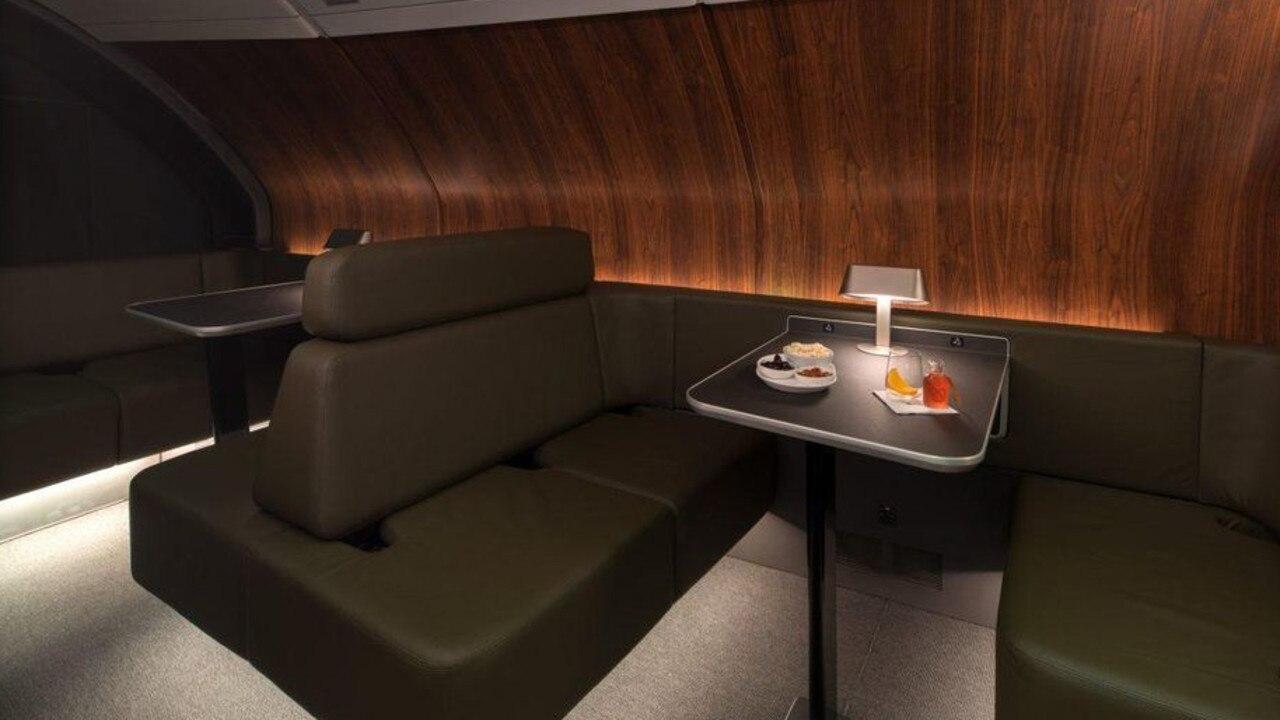Qantas unveiled their 'speak-easy' bar on-board earlier this year