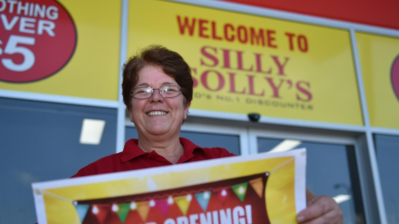Silly Solly's Morayfield branch manager Toni-Lee Blight gets ready for opening day. Photo: Luke Simmonds.