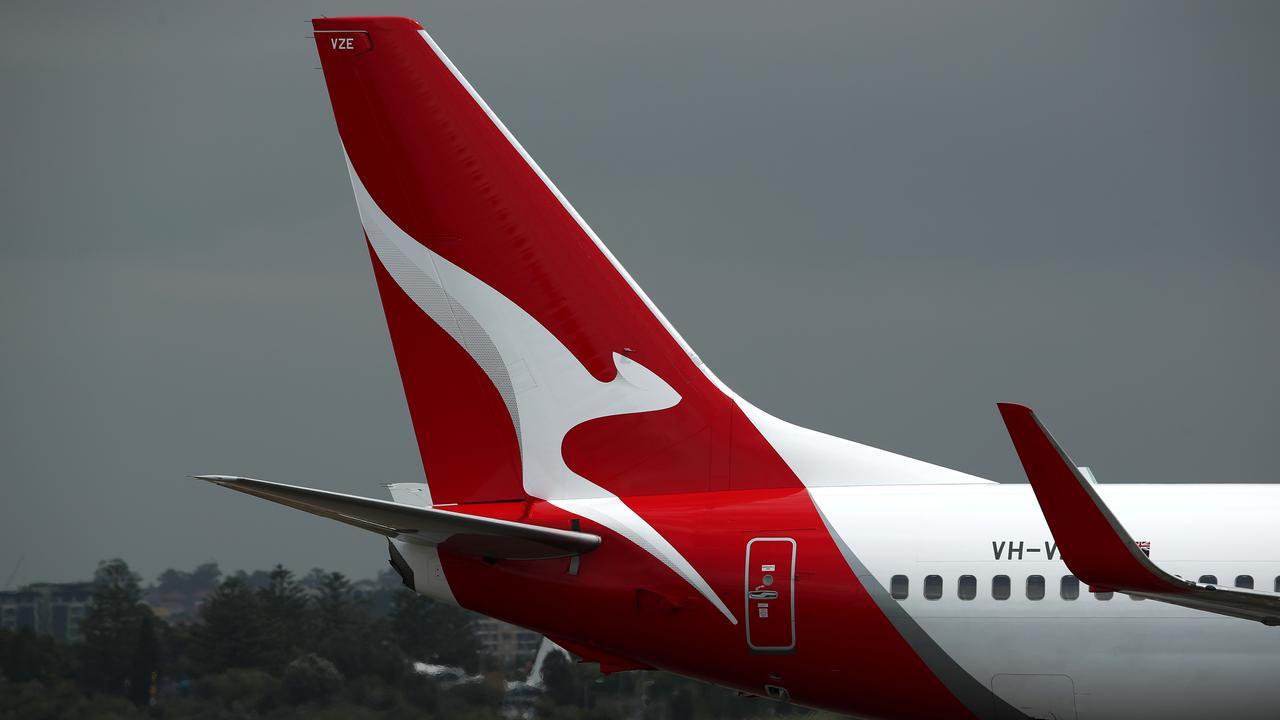 QANTAS plane. Photo by Cameron Spencer