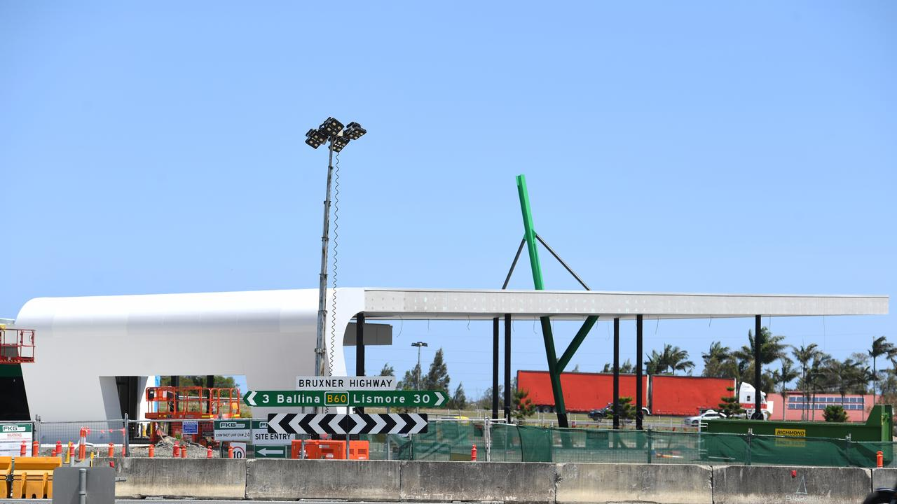 The new service station that is being built just outside Ballina on the Pacific Motorway.
