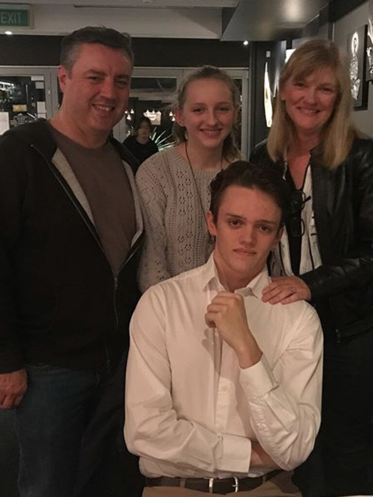 Anthony and Kristine Langford, with their children Jesse and Winona.