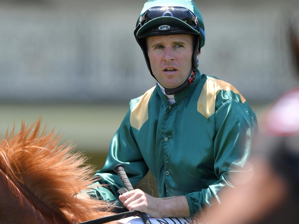 Tommy Berry returns to scale after riding Nitrous to victory.