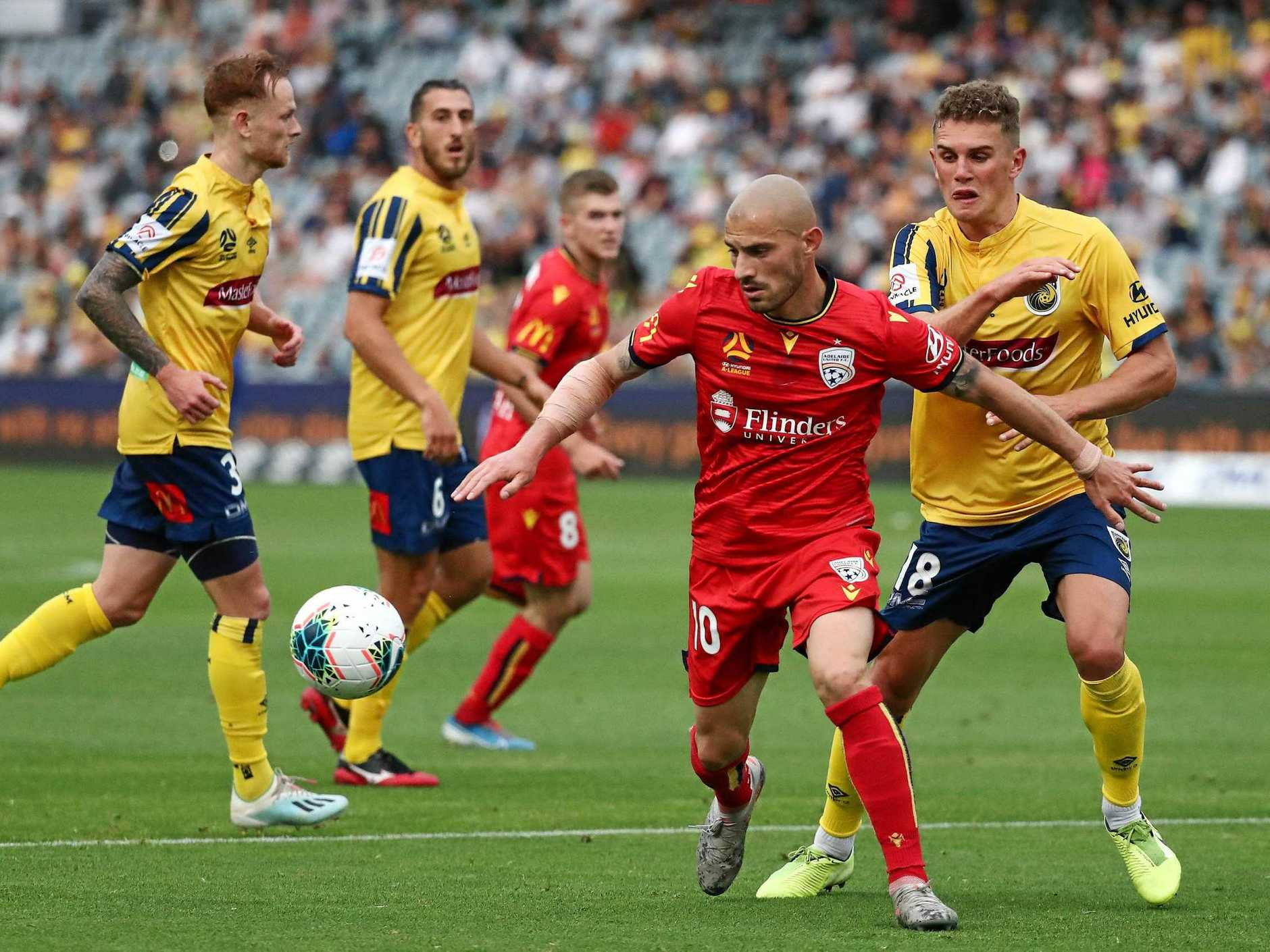 Adelaide United's James Troisi may be on the move. Picture: Jeremy Ng/AAP