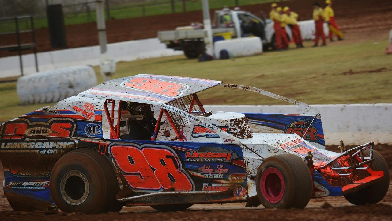 Grafton Speedway V8 Dirt Modified winner Dale Corbett. Photo: Scott McNicol