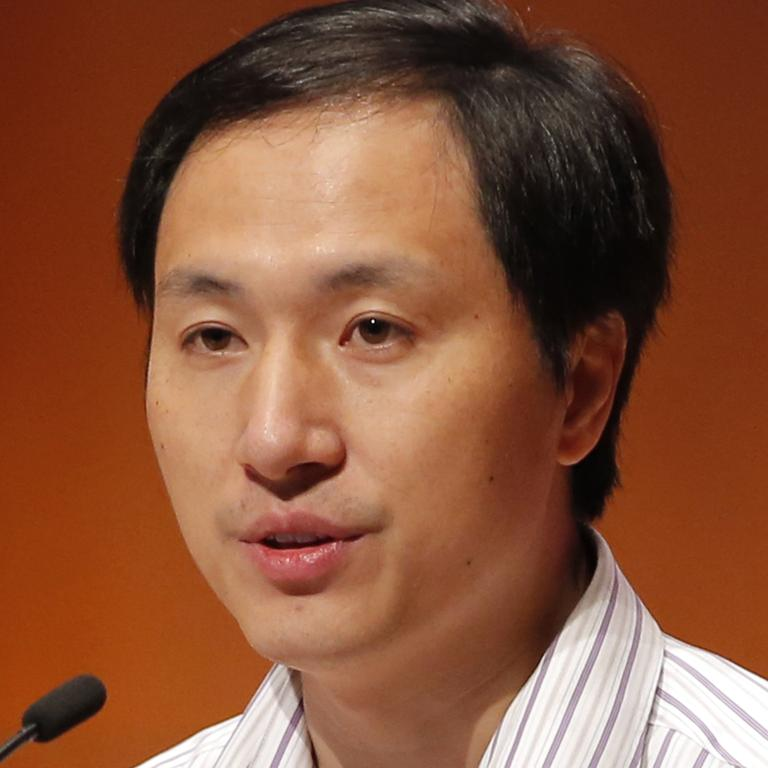 Jiankui shocked many when presenting his claim at the Human Genome Editing Conference in Hong Kong. Picture: AP Photo/Kin Cheung, File