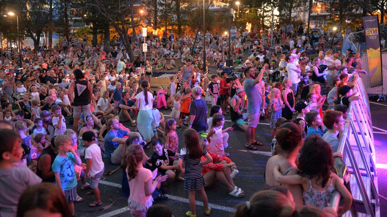 Thousands of people are expected to hit the sand at Mooloolaba beach for New year's Eve celebrations.