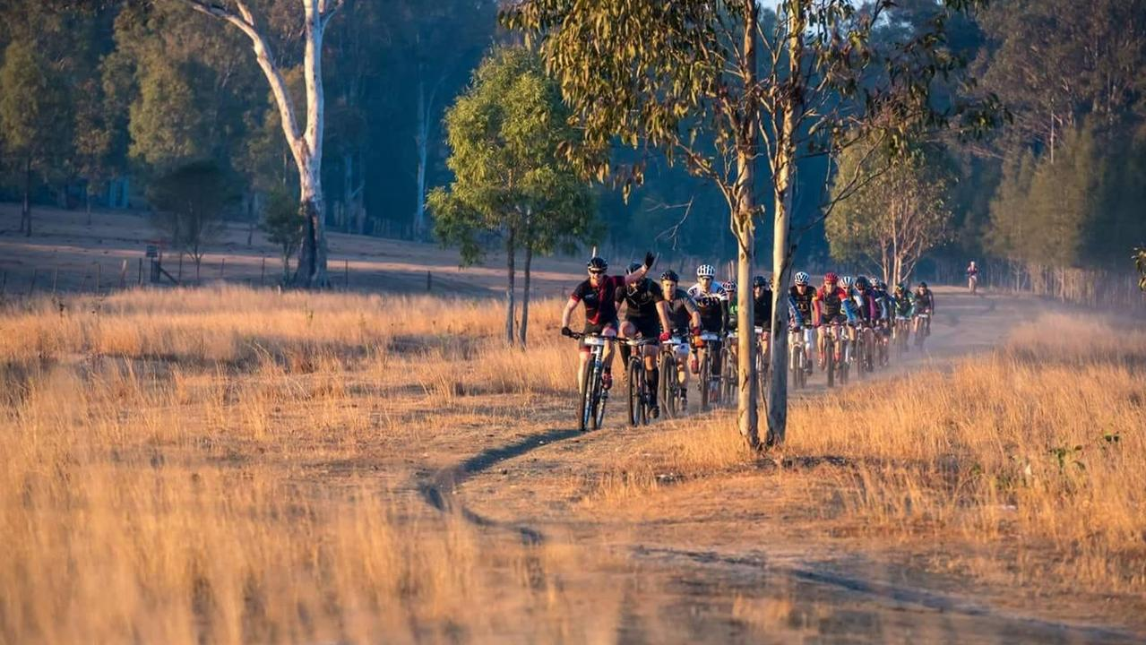 Embark on an early morning ride on the Brisbane Valley Rail Trail. Photo: Contributed