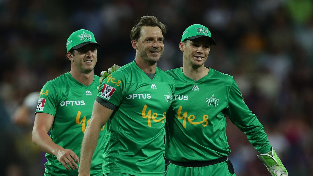Dale Steyn (centre) is one of a host of international superstars hitting the Big Bash this summer. Picture: Getty