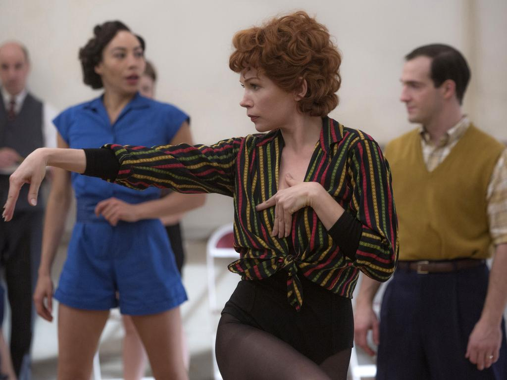 Michelle Williams met Thomas Kail when he directed her in Fosse/Verdon. The actress won an Emmy for her role as dancer, Gwen Verdon. Picture: AP
