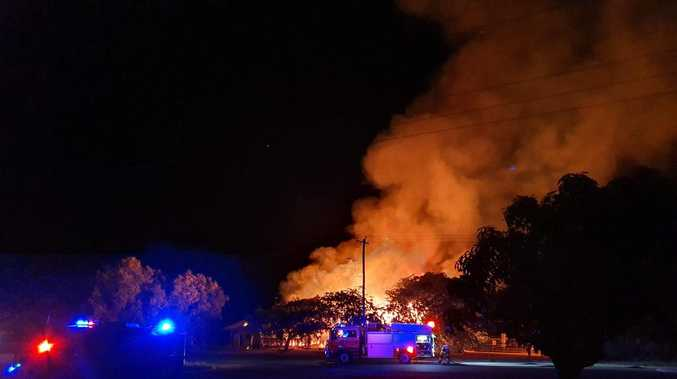 WATCH: Old Bowen Coke Works goes up in flames