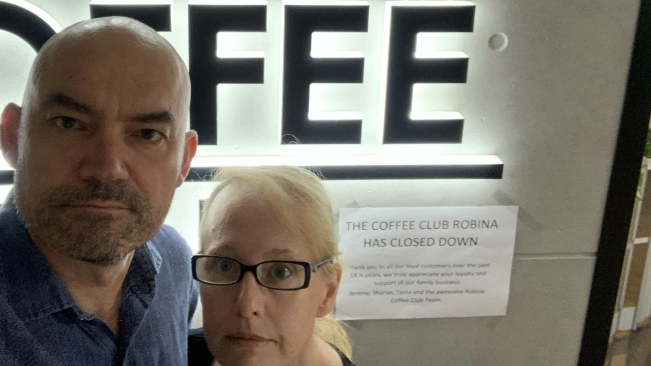 Coffee Club Robina franchisee Jeremy Swift and his wife Sharon.