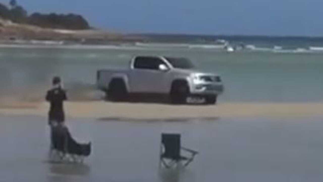 It may look like a moment of harmless fun, but a reckless driver has sparked anger within a small community on the coast.
