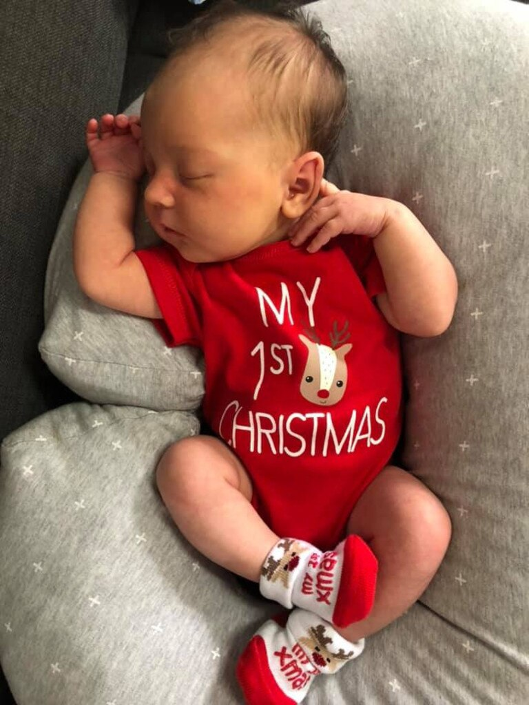 Iylah at 2 weeks old experienced their her Christmas in 2019, photo submitted by Ashley Leonard.