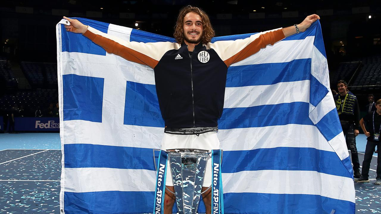 World No.6 and reigning ATP Finals champion Stefanos Tsitsipas will be one to watch in the Brisbane Group Stages of the ATP Cup. Picture Julian Finney/Getty Images