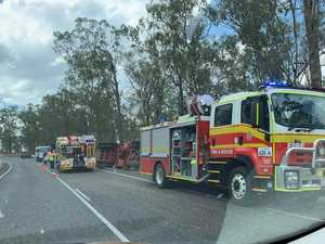 Warrego Highway now open after Syrup tanker rollover