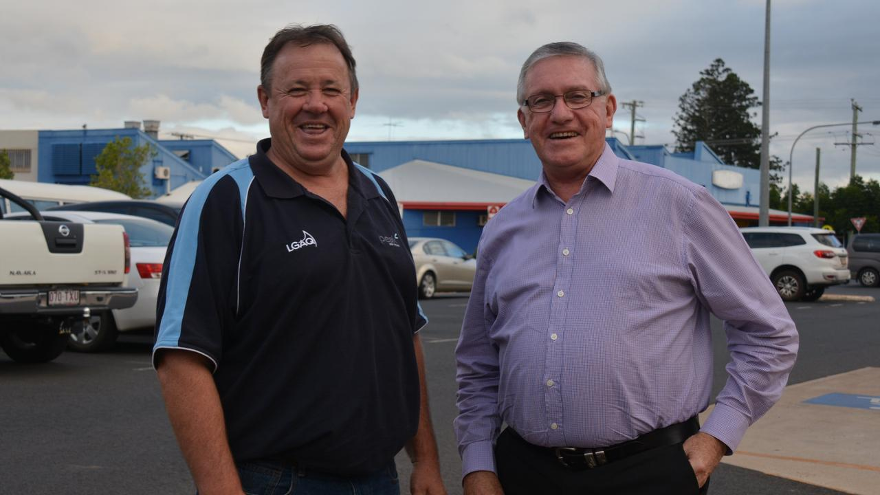 ROADS IN REVIEW: Councillor Gavin Jones with Mayor Keith Campbell.