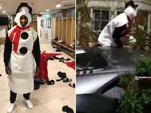 Star dressed as snowman crashes $393k Lamborghini into home