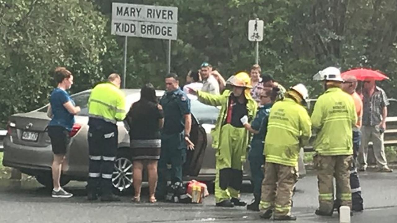Crash at Normanby Bridge