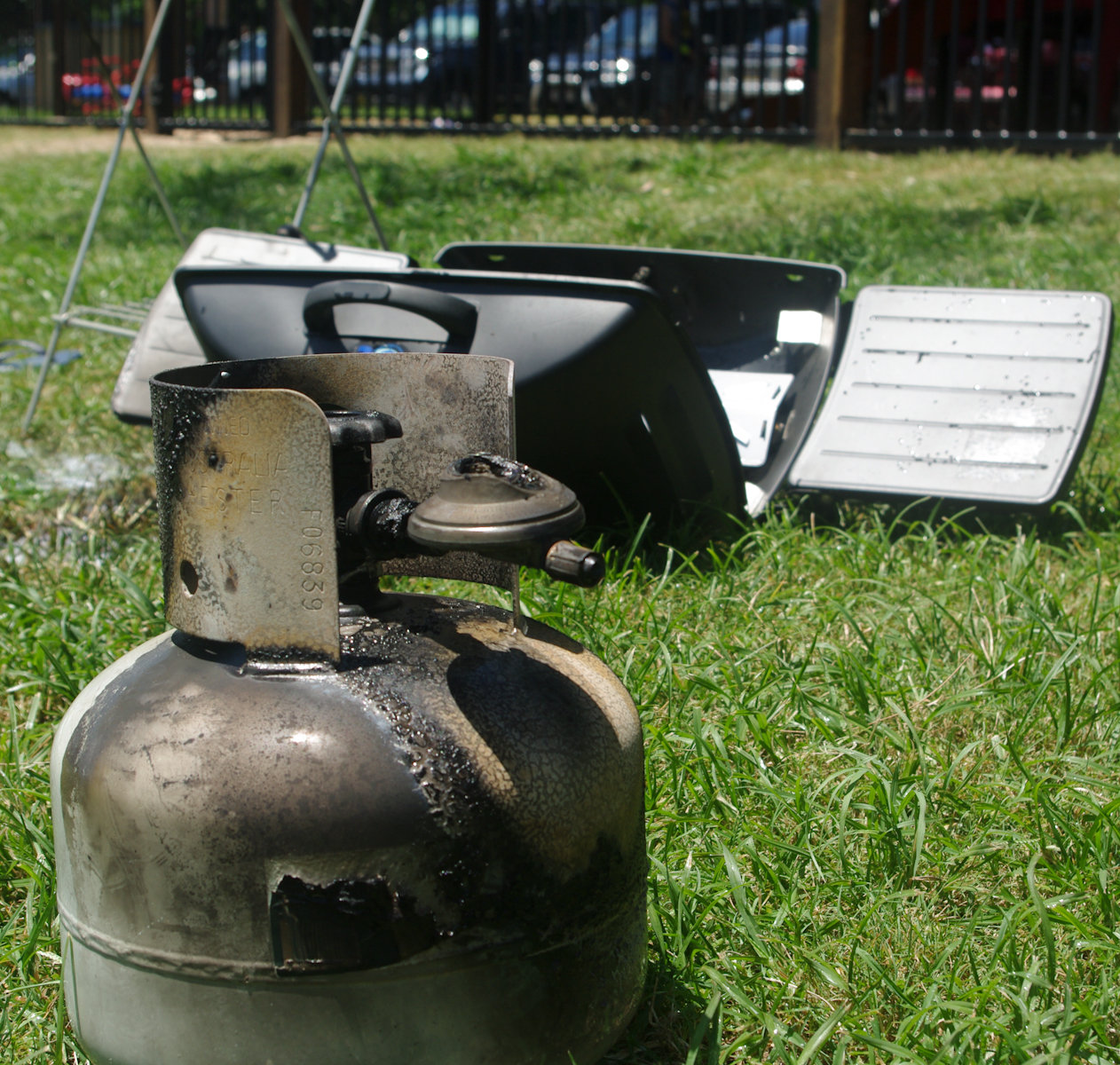 A gas bottle explosion burned a Coolum woman last night.