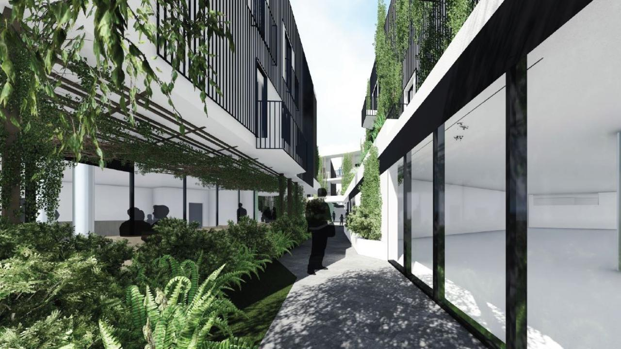 An artist's impression of a proposed development for Jonson St, Byron Bay.