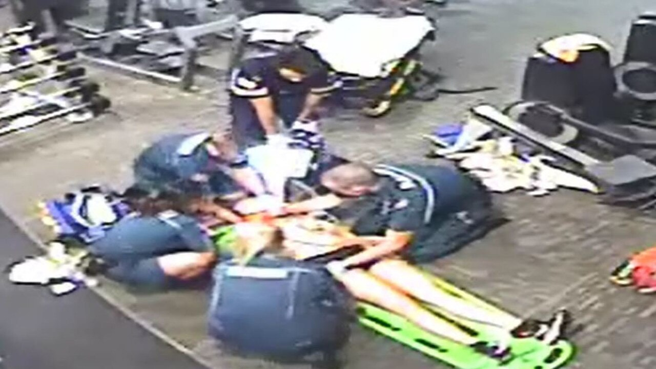 Several men rushed to Emily Counter's aid when she went into cardiac arrest at Anytime Fitness Noosa.