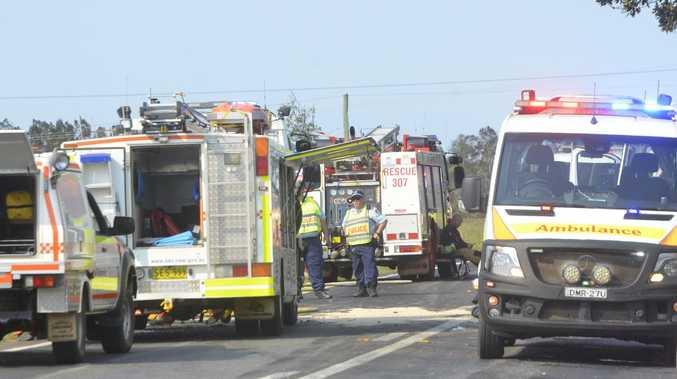 Nine people injured in 'horrific' highway smash
