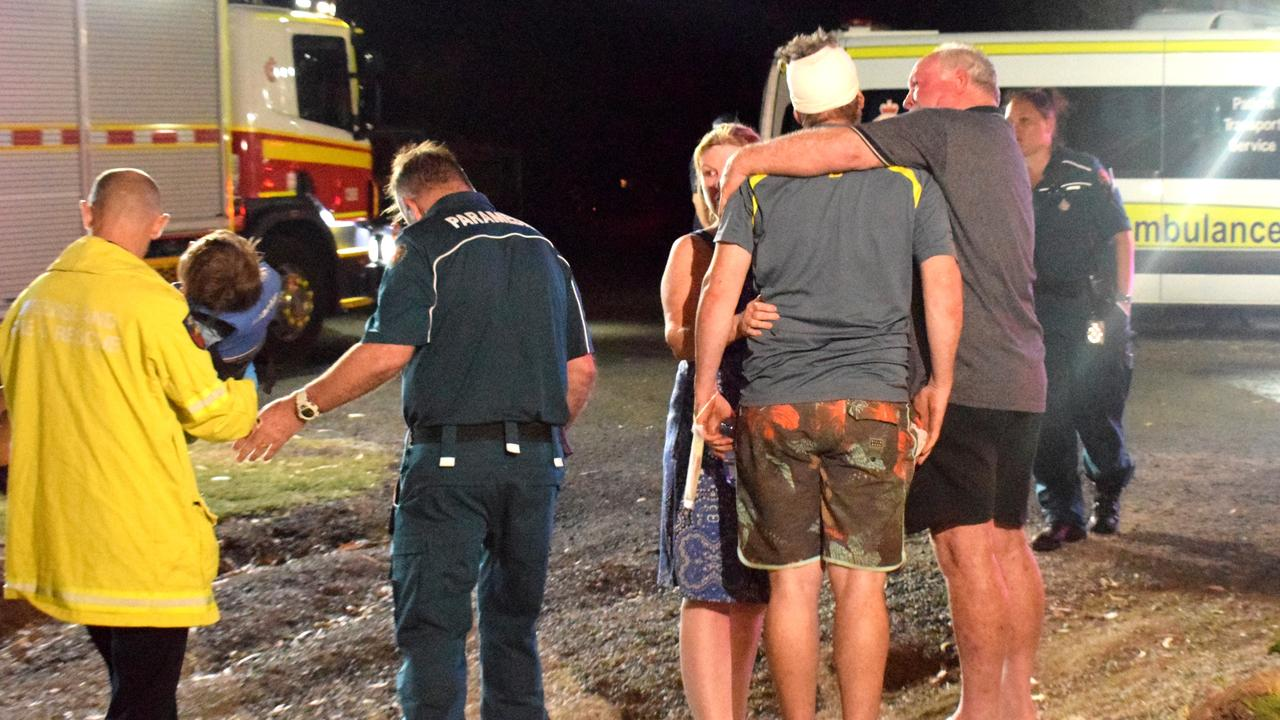 The boating rescue effort on the Wandal Boat Ramp Wednesday evening