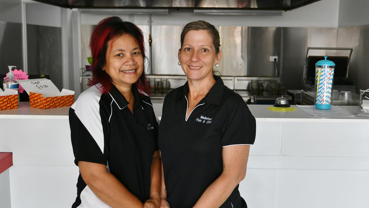 Mellefont Street Fish and Chips' Rhana Shailer and Toni Oosen