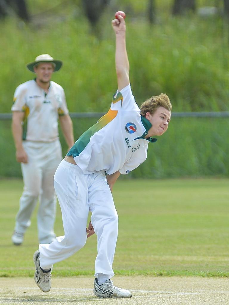 Josh Finlay in action for BITS Cricket Club.